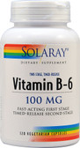 Vitamin B-6 100 mg 120 VCaps, Solaray