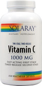 Vitamin C w/Fast Acting First Stage TR Second Stage 1000 mg 250 VCaps Solaray