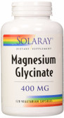 Magnesium Glycinate 400 mg 120 VCaps Solaray