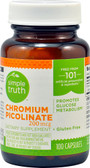 Chromium Picolinate 200 mcg 100 Caps, Simple Truth