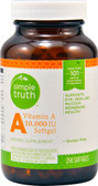 Vitamin A 10000 IU 250 Softgel Caps, Simple Truth