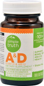 Vitamin A 10000 iu & D 400 iu 100 sGels, Simple Truth