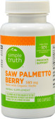Saw Palmetto Berry 585 mg 100 Caps, Simple Truth