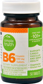 Vitamin B6 100 mg 50 Tabs, Simple Truth