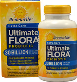 Ultimate Flora Extra Care Daily Probiotic 30 billion 30 VCaps, Renew Life