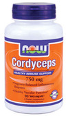 Cordyceps 750 mg 90 Vcaps, Now Foods, Immune Support