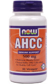 AHCC 500 mg 60 Caps Now Foods, Immune Support