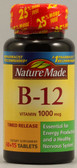 Vitamin B-12 Timed Release 1000 mcg 75 Tabs, Nature Made