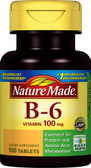 Vitamin B-6 100 mg 100 Tabs, Nature Made