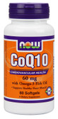 CoQ10 60 mg with Omega-3 60 Softgels Now Foods, Cardiovascular