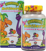 Dinosaurs Children's Vitamins & Minerals Berry, Grape & Orange 60 Chews, KAL