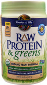 RAW Protein & Greens Organic Powder Real Raw Vanilla 19.3 oz, Garden of Life