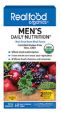 Realfood Organics Men's Daily Nutrition 60 Tabs, Country Life