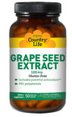 Grape Seed Extract 100 mg 50 VCaps, Country Life