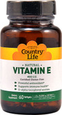 Natural Vitamin E 400 IU 60 sGels, Country Life