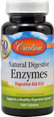 Natural Digestive Enzymes Digestive Aid No.34 100 Tabs, Carlson