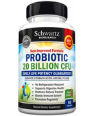 Probiotic 40 Billion CFUs with Prebiotics 60 Caps, BioSchwartz