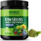 Raw Greens Superfood 8.5 oz Powder 30 Servings, Naturelo