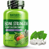 Bone Strength with Plant Calcium, Magnesium 120 Caps, Naturelo