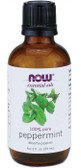 100% Pure Peppermint Oil 2 oz Now Foods, Revitalizing & Cooling