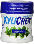 XyliChew Gum Peppermint Jar 60 Pcs, No Sugar Chewing Gum