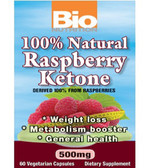100% Natural Raspberry Ketones 60 VCaps, Bio Nutrition Weight Loss