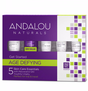 Get Started Age Defying Skin Care Essentials Kit 5 PC Andalou