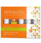 Get Started Brightening Skin Care Kit 5 PC Andalou, Complexion Defense