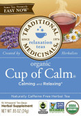 Cup of Calm Tea 16 Bags, Traditional Medicinals Teas, Relaxation