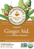 Organic Ginger Aid Tea 16 Bags, Traditional Medicinals, Digestion