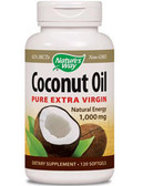 Nature's Way Coconut Extra Virgin Oil 1000mg 120 Caps, Energy, Weight Loss
