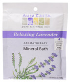 Aura Cacia Relaxing Lavender Aromatherapy Mineral Bath 2.5 oz packet