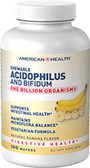 Acidophilus Chewable Banana 120 wafers, American Health