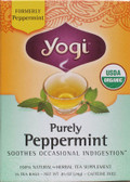 Peppermint Tea 16 Bags Yogi Teas, Digestion, Heartburn
