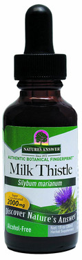 Milk Thistle Alcohol Free Extract 1 oz, Nature's Answer
