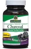 Charcoal 90 caps Nature's Answer, Relief of Gas