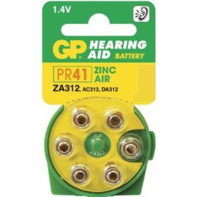 Pack of 6 Zinc Air Hearing Aid Batteries