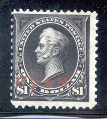 gm12d4. Guam 12 unused OG Ave-Fine. Scarce stamp, only 3000 issued.