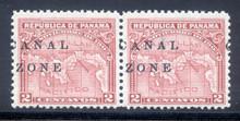 cz010k3. Canal Zone 10 variety pair Split Overprint unused NH Fresh & Very Fine. Scarce Variety!