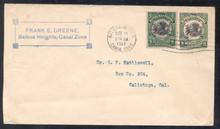 czu01h. Canal Zone U1 used with #38 Balboa Heights, 5-14-1917, to US