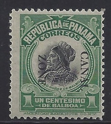 cz046j3. Canal Zone 46a Inverted Overprint Unused OG F-VF+. Scarce, only 200 issued!