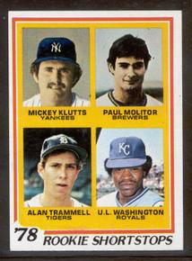 Baseball 1978 Topps 707 Paul Molitor & Alan Trammell Rookie card. NRMT-MT, A Choice card!