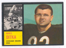 Football 1962 Topps 17 Mike Ditka Rookie Card NRMT & Scarce!
