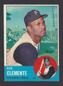 BASEBALL 1963 TOPPS 540 BOB (ROBERTO) CLEMENTE HOF PITTSBURGH PIRATES OUTFIELDER EXMT ATTRACTIVE CARD!