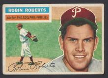BASEBALL 1956 TOPPS 180 ROBIN ROBERTS HOF PITCHER PHILADELPHIA PHILLIES VG-EX CARD