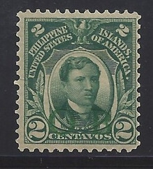 """piob241g3. Philippines 241 variety with Green Constabulary """"OB"""" Overprint. Unused, OG, F-VF. Scarce & Attractive Green Bandholtz """"OB"""" Overprint. Only 500 issued!"""