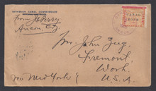 cz013o3. Canal Zone 13 tied on ICC cover with ANCON, 5-7-1905, cds to U.S. Scarce & Attractive piece of Postal History!