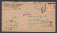 cz013o5b. Canal Zone 13 Pedro Miguel 7-20-1906 Registered cover to US. Scarce & Attractive Postal History!!