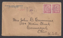 cz010o3. Canal Zone 10 pair tied on ICC cover with CULEBRA, 12-20-1904, cds to U.S. Scarce & Attractive Double-weight very early usage!