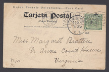 cz009i3. Canal Zone 9 LA BOCA, 12-15-1906, on m/c PPC to U.S. with JAMESTOWN CELEBRATION receiver.